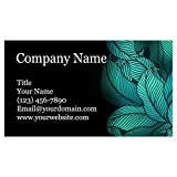 Premium Personalized Business Cards 3.5' x 2' - 100 Cards - 14Pt, Recycled, 28PT Business Cards - All Business Designs - 40+ Designs - 100% Made in the U.S.A. - Same Day Shipping (Green Fern)