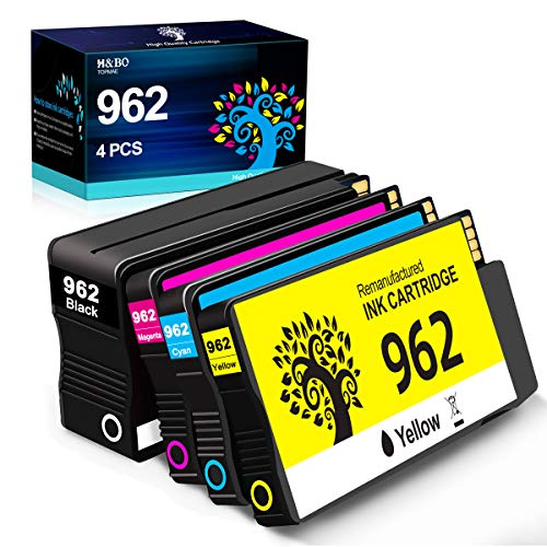 Price comparison product image H&BO TOPMAE Remanufactured Ink Cartridge Replacement for HP 962 Ink Cartridge to use with HP Officejet 9012 Officejet Pro 9025 9020 9018 9015 9010 All-in-one Printer 3HZ99AN,  3HZ96AN,  3HZ97AN,  3HZ98AN