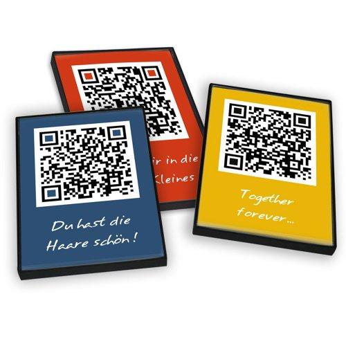 Postkartenbox - 12 bunte QR-Code Postkarten - DINA6: Grußkarten mit Überraschungspotential