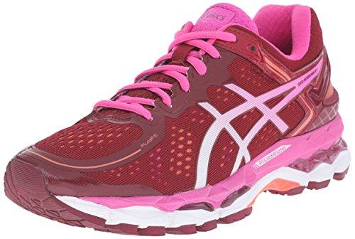 ASICS Women's Gel Kayano 22 Running Shoe, Deep Ruby/White/Pink Glow, 12.5 M US
