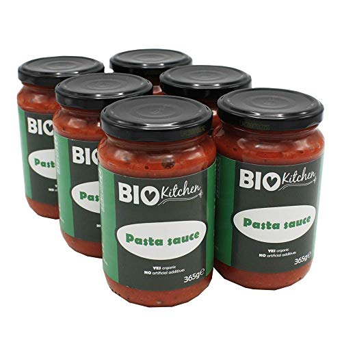 BioKitchen - Salsa ecológica para pasta (6 envases de 365 g)