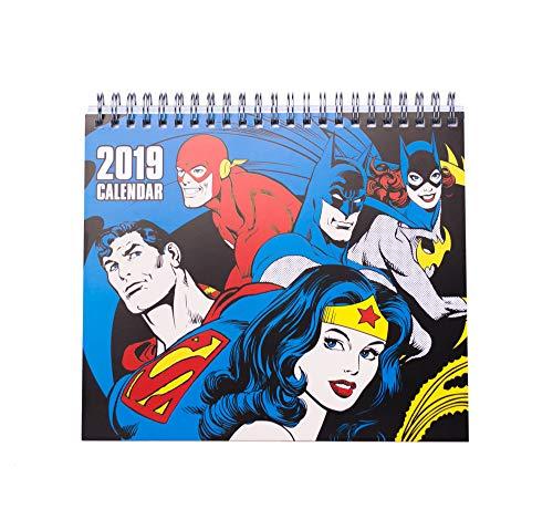 Grupo Erik Editores CS19007 Tafelkalender 2019 DC Comics, 17 x 20 cm