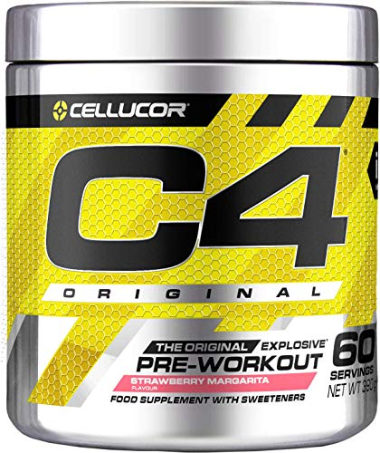 Pre-workout Powder C4 Original Strawberry Margarita | Sugar Free Pre-workout Energy Drink Supplement for Men & Women | 150 mg Cafeïne + Bèta-alanine + Creatine-monohydraat | 60 Doseringen