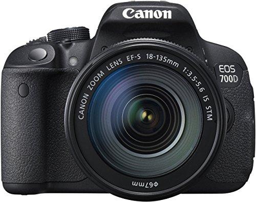 Canon EOS 700D SLR-Digitalkamera (18 Megapixel, 7,6 cm (3 Zoll) Touchscreen, Full HD, Live-View) Kit inkl. EF-S 18-135mm 1:3,5-5,6 IS STM (Generalüberholt)