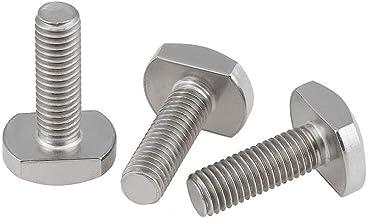 BOZONLI T-bout, T Slot Bout, Koolstofstaal T-Slot Drop-in Stud Schuifschroef Bout voor T-Slot Aluminium Profiel,M5×40mm,10...