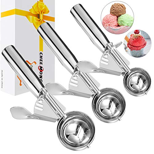 Ice Cream Scoop Ice Cream Scooper Medium Size Ice Cream Scoops 18//0 Stainless Steel Ice Scooper with a Spoon for Kids