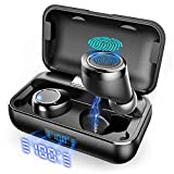 True Wireless Earbuds, VANKYO X200 Bluetooth 5.0 Earbuds in-EarTWS Stereo Headphones with Smart LED Display Charging Case IPX8 Waterproof 120H Playtime Built-in Mic with Deep Bass for Sports Work