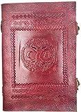 Kooly Zen Notizblock, Tagebuch, Buch, echtes Leder, Vintage, keltischer Baum des Lebens, Sonne und Mond, Verschluss, 18 cm x 25 cm, 240 Seiten, Premiumpapier