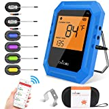 Bluetooth Meat Thermometer, Wireless BBQ Thermometer, Digital...