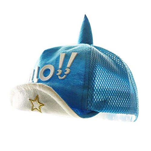 Grand cadeau pour bébé Mode Hat de coton Sunhat Chapeau de plage pliable Chapeau d'été Bleu