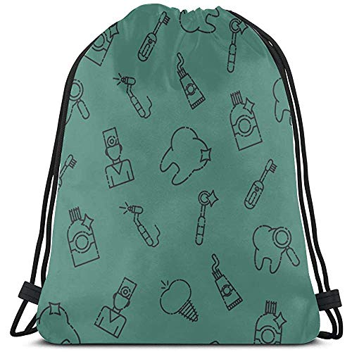 Bouia Elektrische automatische tandenborstel, gymzak, zak, zak, polyester, een trekkoordtas, gymtas voor gym reizen