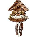 Cuco Clock Coucou Holzfäller, Mouvement à 8 Jours, Horloge Murale, Horloge de la Forêt-Noire, Horloge à Pendule Marron