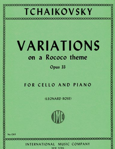 Variations on a Rococo Theme, Op. 33 for Cello (IMC1263)
