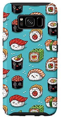 Galaxy S8 Teal Kawaii Cartoon Sushi Cute Case
