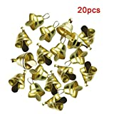 NOLOGO Yg-CT 20 / Set Pequeño Mini Cascabeles de Oro del Animal doméstico de Plata Colgantes de Metal Campana de Boda de decoración de Navidad Campanas for la artesanía (Color : 12mm, Talla : 20PCS)