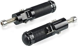 TYBXK estriberas Moto 2PCS reposapi/és Clavijas del pie de la Motocicleta de Motocross Anchas Negras de rat/ón de Aluminio Color : Black