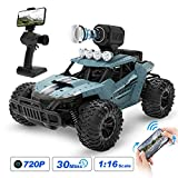 DEERC RC Cars DE36W Remote Control Car with 720P HD FPV Camera, 1/16 Scale Off-Road Remote Control Truck, High Speed Monster Trucks for Kids Adults, 30 Min Play, RC Toys Gift for Boys and Girls