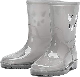 YQQMC Impermeabile Antiscivolo Rain Boots Trasparenti Cute Cartoon Bambini Pioggia Boots Medie Tubo Stivali Impermeabili i...