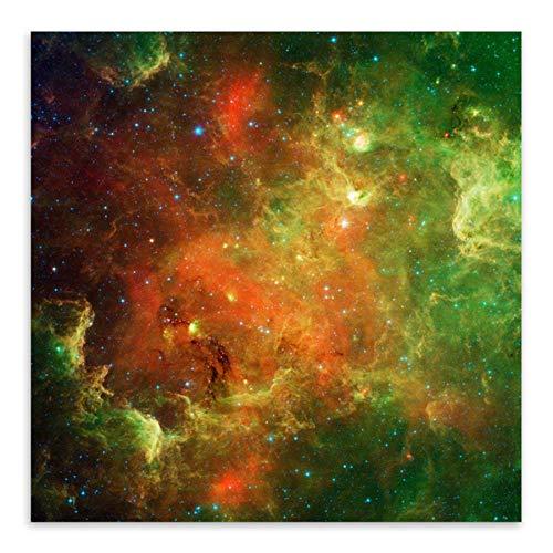 Wzadxy Moderno Lindo telescopio Espacial Hubble Universo Galaxias sacpe Cartel Abstracto Pintura al óleo Lienzo de Arte de Pared