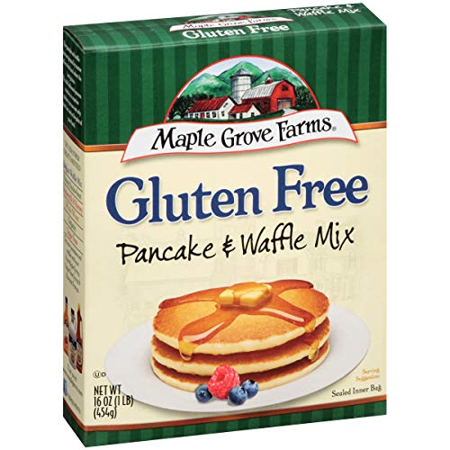 Maple Grove Farms, Pancake & Waffle Mix, Gluten Free, 16 Ounce Boxes (Pack of 4)