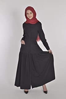 Black jeans dress with rubber on the waist