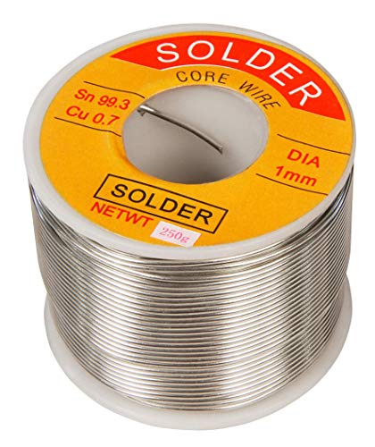 MC POWER - bleifreies Lötzinn, 1mm-Ø, 99,3% Sn 0,7% Cu | für z. B. Bauelemente, Bauteile, Kondensatoren, Fernseher, Motoren, Spielzeuge, uvam. (250)
