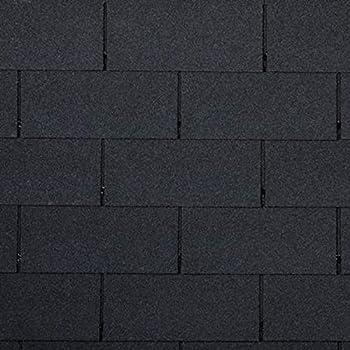 noir bardeaux bitum/és bitum/és 7 bardeaux de toit pour 1 m2 en forme de rectangulaire