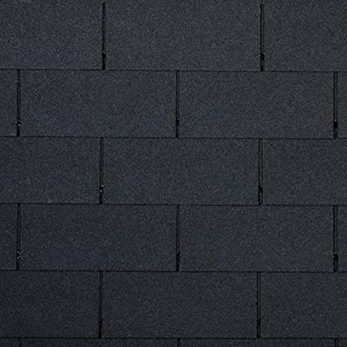 14 Bitumen Dachschindeln schwarz Rechteck Form für 2m² Dachabdichtung Dach Bitumenschindeln Dachziegel Dach Bitumen