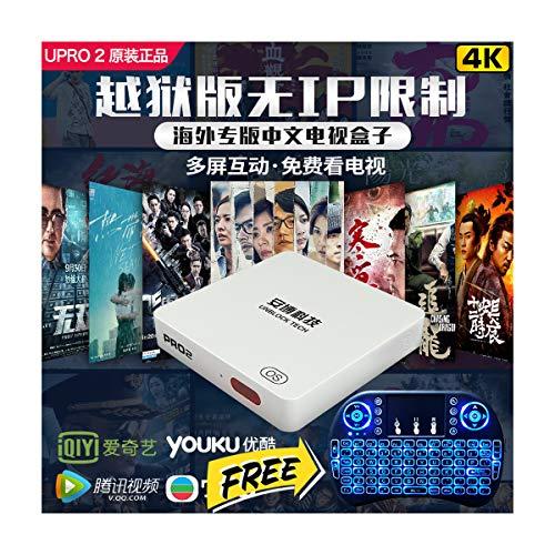 2020 安博盒子pro 1GB RAM+16GB ROM 安博 藍牙4.0 無綫雙頻WiFi 終身免費 500+頻道 100K+影视剧 無IP限制 越獄版 多屏互動 七天回看
