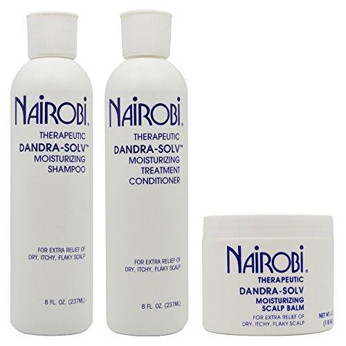 """Nairobi Dandra-Solv Moisturizing Shampoo & Conditioner 8oz & Scalp Balm""""Set"""""""