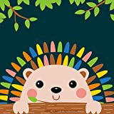 Diy oil painting, paint by numbers kits for kids - Charming Hedgehog 8'X 8', Framed Canvas
