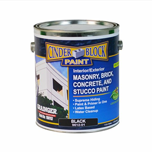 Masonry & Stucco Paint, Black, 1 gal.