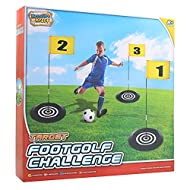 ⚽ HOW TO PLAY FOOTGOLF CHALLENGE: inflate your mini football using the pump provided. Unfold the 3 flagpoles and insert each into its target base. Finally attach the flags to the top of the poles. You are now ready to shoot some targets and practice ...