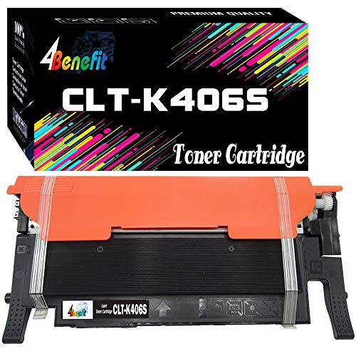 (1-Pack) Compatible CLT-K406S K406S 406S Toner Cartridge Used for SL-C410W C460W C460FW CLP-360 CLP365 365W CLX-3300 CLX-3305 CLX-3305W Printer, by 4Benefit