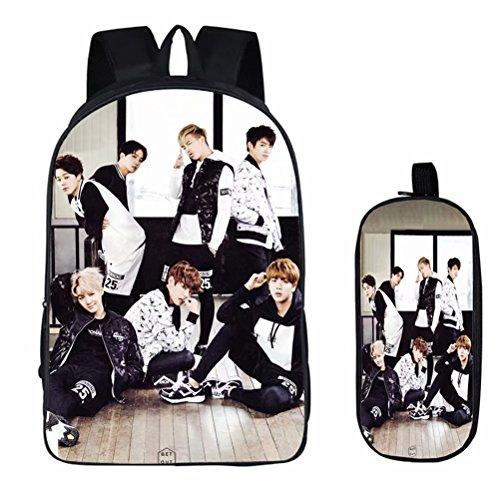 Mochila unisex de los BTS (Bangtan Boys), de FaLaidi, estilo k-pop, diseño informal, para viajes, uso al aire libre, color 8, tamaño talla única