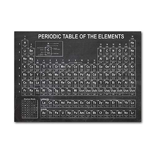 YCCYI Arte de la Lona Pintura Química Tabla periódica Carteles e Impresiones...