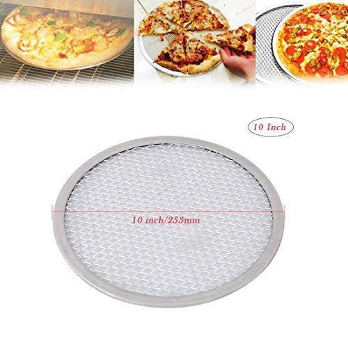 Bandeja para pizza Hebudy para horno, antiadherente Pizza Screen 10 pulgadas Herramientas para hornear Utensilios de cocina