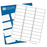 Customizable Address & Mailing Labels - 2.625 x 1 - Permanent, White Matte - FBA Inventory, SKU Labels - 30-Up - Pack of 3,000 Labels, 100 Sheets - Inkjet/Laser Printers - Online Labels