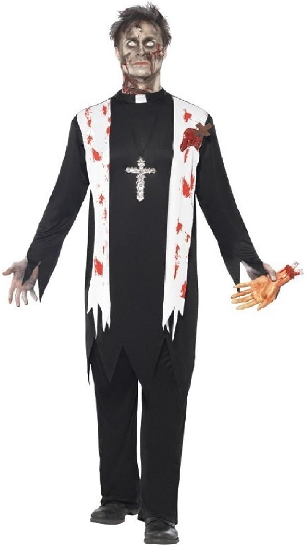 Fancy Me Herren Zombie Priester Heilige Vater Leichnam Halloween Kostüm Kleid Outfit - Schwarz, Large   42 -44  B00OCKWEHQ Angemessene Lieferung und pünktliche Lieferung  | Online Outlet Store