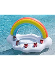 Bestmaple Inflatable Rainbow Cloud Ice Buckets, Beverage Salad Fruit Serving Bar for Summer Outdoor Party Leisure Cup Bottle Water Fun