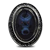 Wgwioo Halloween Magic Mirror, Haunted Mirror Motion Activated Scary Mirror for Halloween Masquerade Parties, Haunted Houses