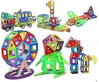 Smartcraft Magnetic Tiles 52 pcs,Magnetic Tiles Educational Building Construction Toys for Kids Boys & Girls