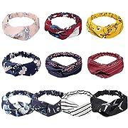 KECUCO Boho Headbands for Women, Women's Yoga Running Headbands Sports Workout Hair Bands Elastic Head Wrap Hair Accessories