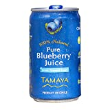 NEW Tamaya Pure Blueberry Juice, Not from Concentrate, Fresh Pressed, Natural, No Sugar Added, No Preservatives, 6.75 Fl Oz Mini Cans, Pack of 12, Chile
