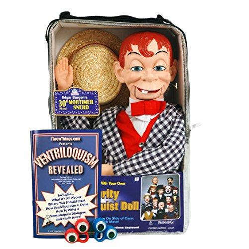 ThrowThings.com Bonus Bundle! Mortimer Snerd Ventriloquist Dummy Doll PLUS Ventriloquism Revealed Booklet PLUS