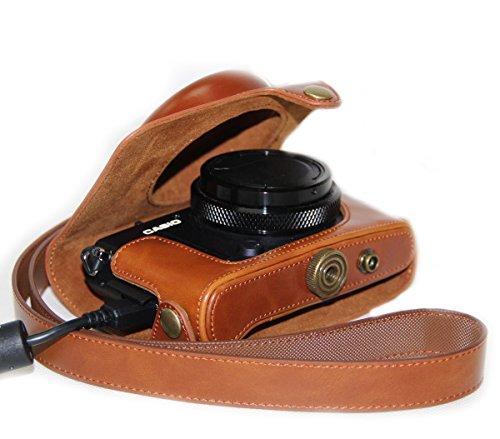 MegaGear - Funda de Piel para cámara de Fotos Casio High Speed...