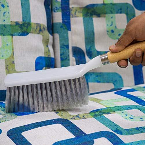 Woogor Long Bristle Plastic Cleaning Brush for Household Upholstery (Standard Size, Random Colour)