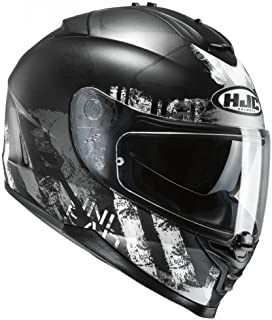 HJC Helmet Motorrad-Helm IS-17 Shapy, Black/White, Größe L