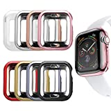 MAIRUI Compatible with Apple Watch Case 44mm [8 Pack] Protector Bumper Cover TPU Ultra-Slim Lightweight for iWatch Series 6/5/4