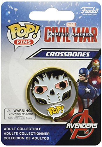 Funko - Pins Marvel - Civil War - Crossbones Pop 3cm - 0849803085520